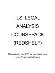 LAW 056 COURSEPACK - FALL 2018 (ILS: LEGAL ANALYSIS)