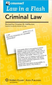 LAW IN A FLASH CARDS: CRIMINAL LAW (2010) 9780735589995
