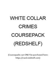 WHITE COLLAR CRIMES COURSEPACK