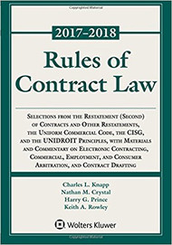 KNAPP'S RULES OF CONTRACT LAW STATUTORY SUPPLEMENT (2017-2018) 9781454875345