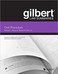 GILBERT LAW SUMMARIES ON CIVIL PROCEDURE (18TH, 2017) 9781683281016