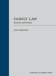 BERENSON'S FAMILY LAW: DOCTRINE AND PRACTICE (2017) 9781611639544