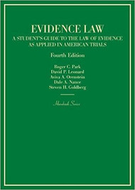 PARK'S EVIDENCE LAW (HORNBOOK SERIES) (4TH, 2017) 9781634609357