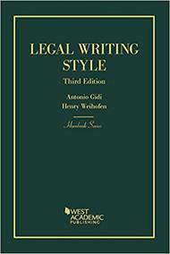 GIDI'S LEGAL WRITING STYLE (HORNBOOK SERIES) (3RD, 2018) 9781634592963