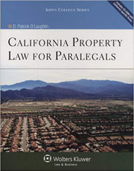 O'LAUGHLIN'S CALIFORNIA PROPERTY LAW FOR PARALEGALS (2011) 9780735584525