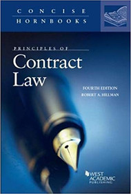 PRINCIPLES OF CONTRACT LAW (CONCISE HORNBOOK SERIES)(4TH,2018) 9781640202139
