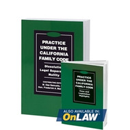 MANDABACH'S PRACTICE UNDER THE CALIFORNIA FAMILY CODE: DISSOLUTION, LEGAL SEPARATION, NULLITY (2018) 9780762626366