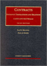 MACNEIL'S CONTRACTS: EXCHANGE TRANSACTIONS AND RELATIONS (3RD, 2001)  9781566627535