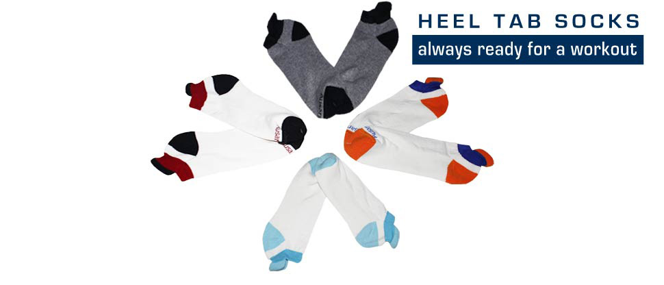 Our heel tab socks protect your ankles.