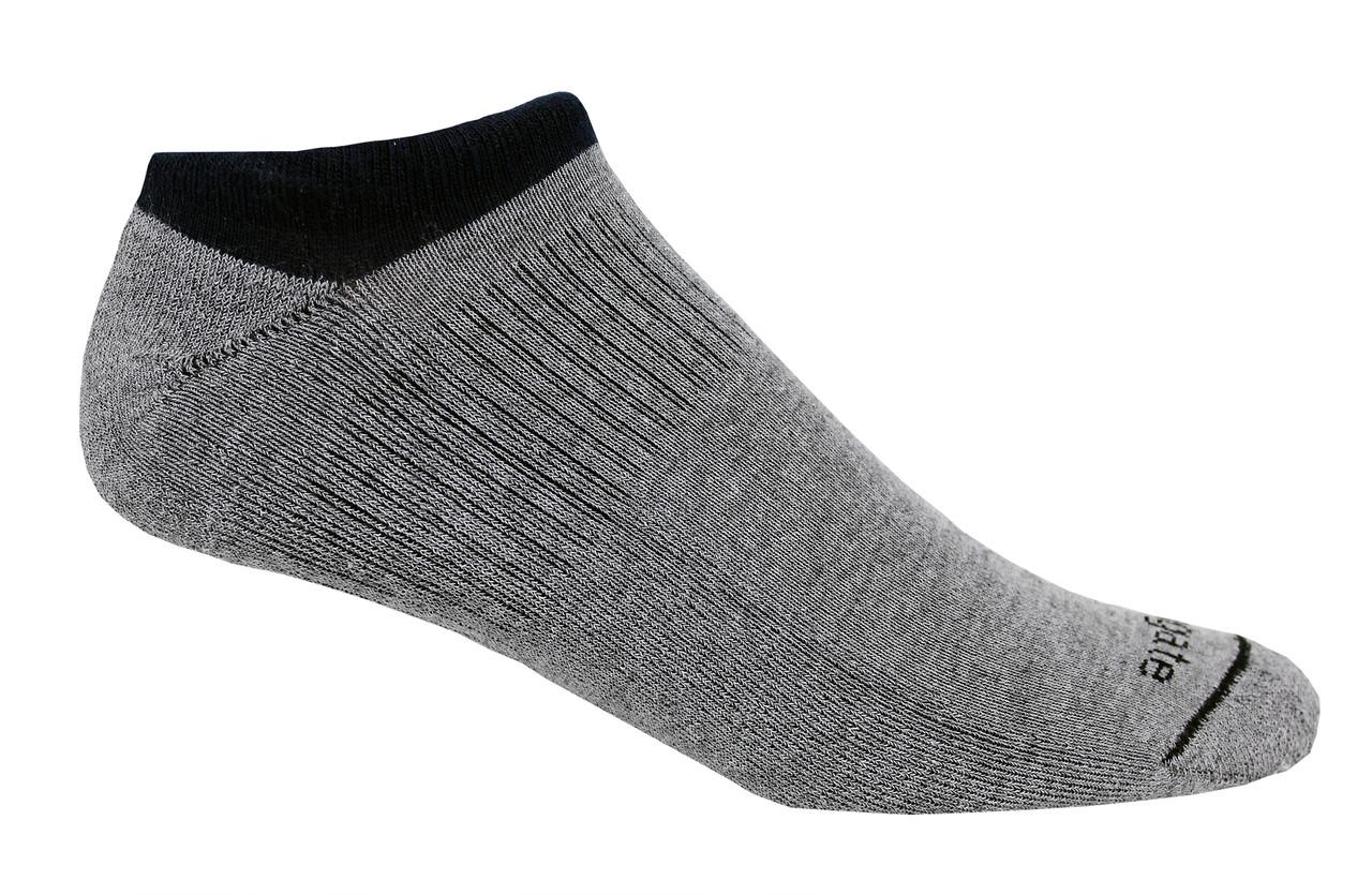 No peek, No Show All Sport Alpacor®  yarn Socks in White and Black.