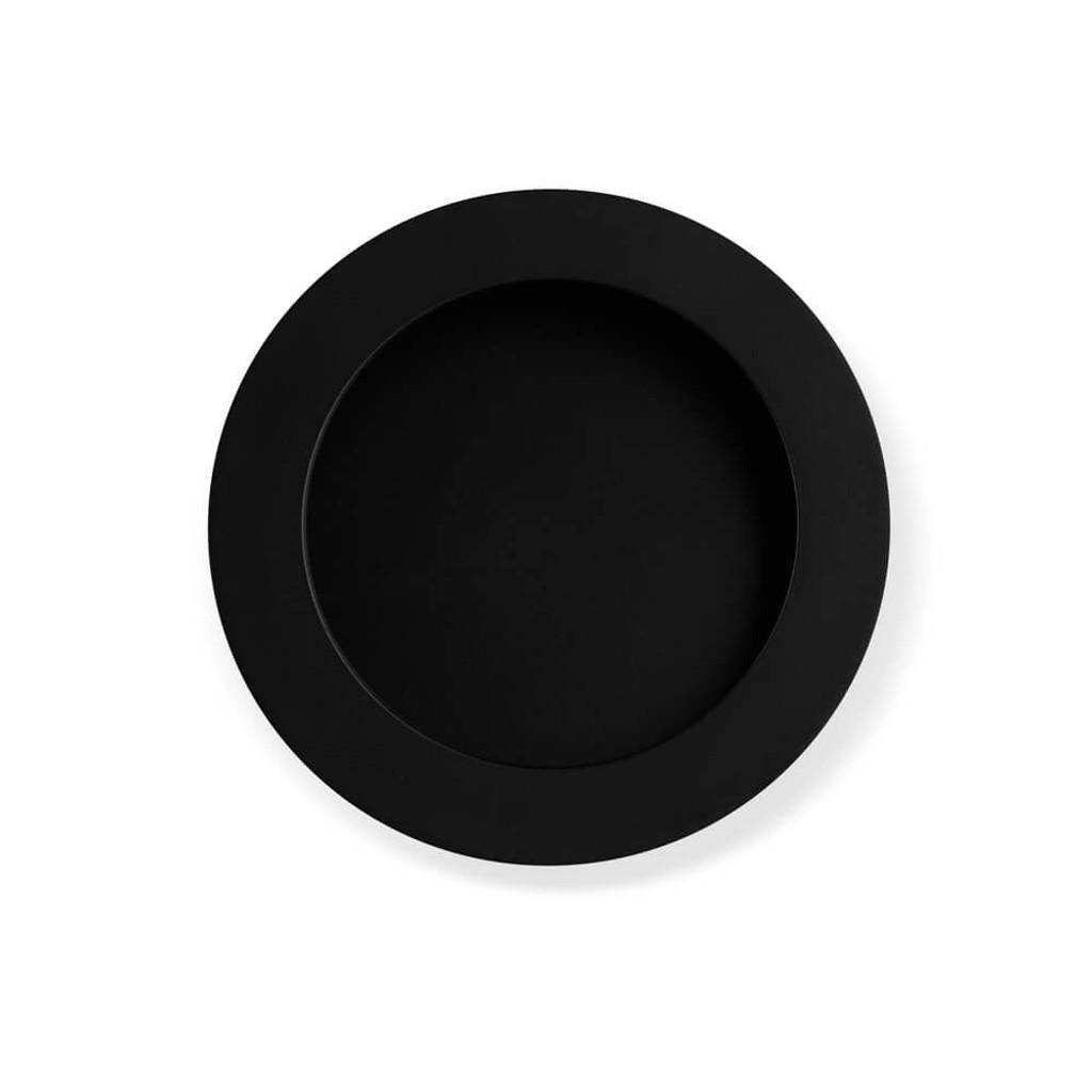 Black Flush Pull Handle 70mm top