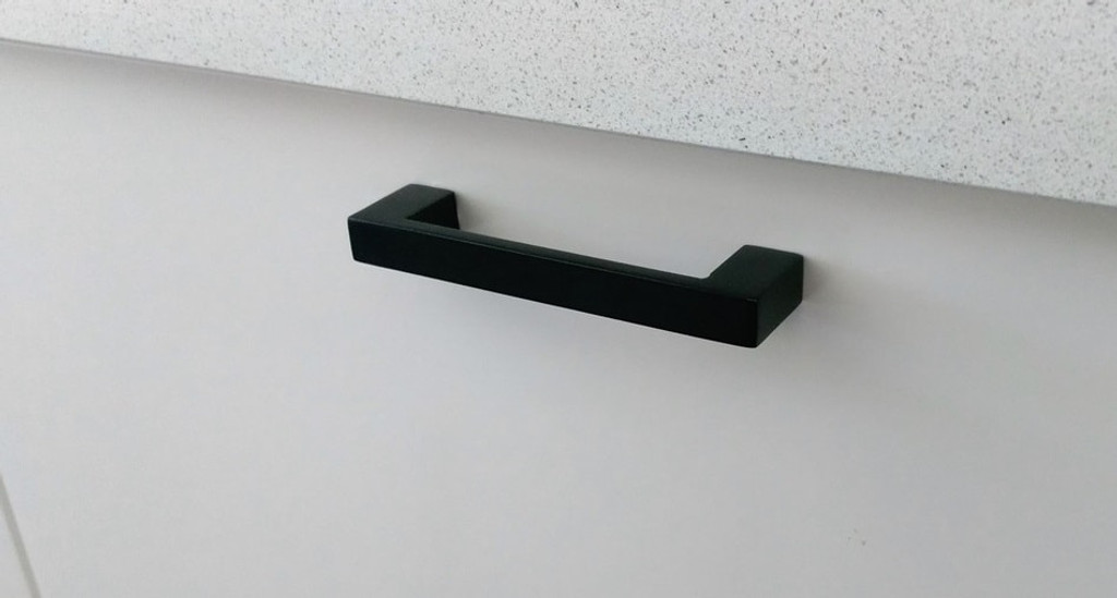 96mm matte black cupboard door handle cupboard