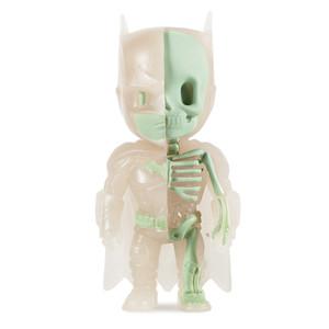"""Anatomical Batman by Jason Freeny [Glow-in-Dark]: ~4"""" Exclusive Mighty Jaxx x Kidrobot  Mini-Figurine"""