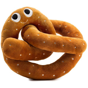 "Hans the Pretzel [Medium]: ~8"" Kidrobot Yummy World Plush"