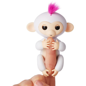 Sophie (White w/ Pink Accents): WowWee Fingerlings Interactive Baby Monkey Puppet