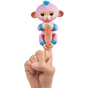Candi (Pink w/ Turquoise accents): WowWee Fingerlings Interactive Baby Monkey Puppet