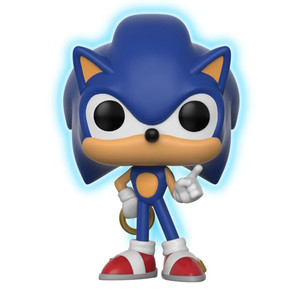 "Sonic w/ Ring [Glow-in-Dark] (Toys ""R"" Us Exclusive): Funko POP! Games x Sonic the Hedgehog Vinyl Figure [#283 / 26572]"