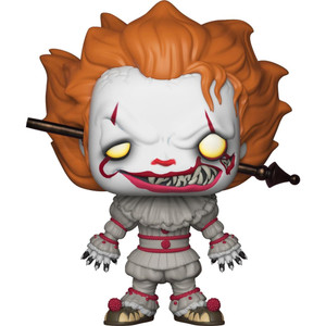 Pennywise w/ Wrought Iron (f.y.e. Exclusive): Funko POP! Movie Moments x It Vinyl Figure [#544 / 29528]