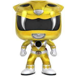 Yellow Ranger [Metallic] (GameStop Exclusive): Funko POP! TV x Power Rangers Vinyl Figure