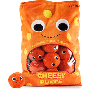 "Cheesy Puffs XL: ~18"" Kidrobot Yummy World Plush"