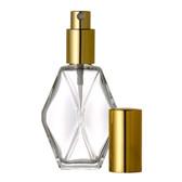 2oz Spray Bottle (Diamond) w/Gold or Silver Sprayer & Cap - As Low As $1.32 each!