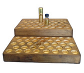 2 Tier Pine Display for 1/2oz Boston Rounds