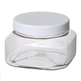 Clear Plastic Jar (Square Shape) 2oz - As Low As 0.85