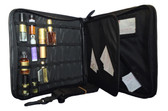 Open Portable Display with examples of bottles that can fit