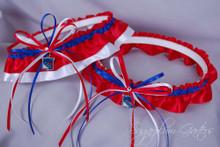 New York Rangers Wedding Garter Set
