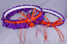 Clemson University Tigers Wedding Garter Set