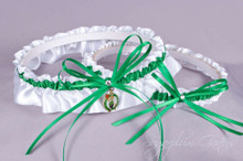 Boston Celtics Wedding Garter Set