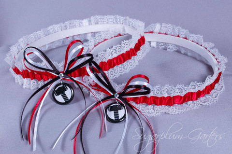 Thor Lace Wedding Garter Set