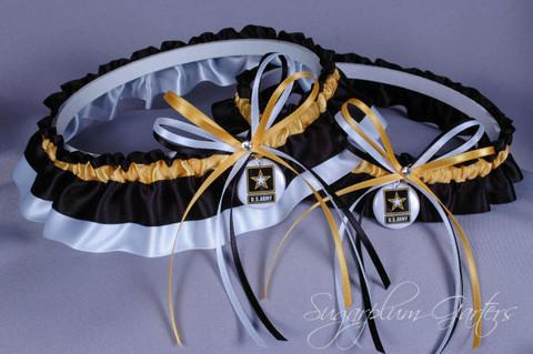United States Army Wedding Garter Set
