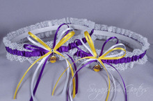 Custom NBA Lace Wedding Garter Set ~ Pick Your Team