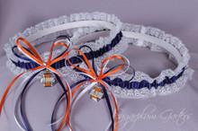 University of Illinois Fighting Illini Lace Wedding Garter Set