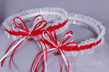 University of Arkansas Razorbacks Lace Wedding Garter Set