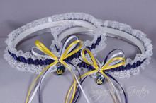 University of California, Berkeley Golden Bears Lace Wedding Garter Set