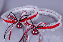 Spider-Man Lace Wedding Garter Set