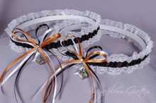 Purdue University Boilermakers Lace Wedding Garter Set