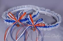 New York Knicks Lace Wedding Garter Set