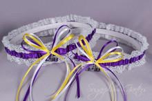 Louisiana State University Tigers Lace Wedding Garter Set