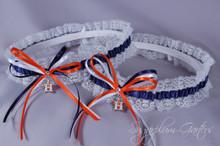 Houston Astros Lace Wedding Garter Set