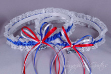 Gonzaga University Bulldogs Lace Wedding Garter Set