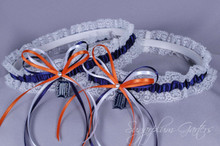 Detroit Tigers Lace Wedding Garter Set