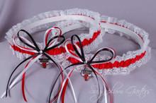 Chicago Bulls Lace Wedding Garter Set