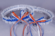 Boise State University Broncos Lace Wedding Garter Set