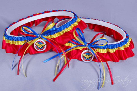 Wonder Woman Wedding Garter Set