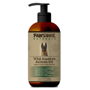 Wild Alaskan Salmon Oil For Dogs From Pawsome Naturals