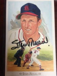Stan Musial Autographed Perez Steele Celebration Postcard