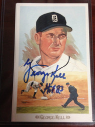 George Kell Autographed Perez Steele Celebration Postcard
